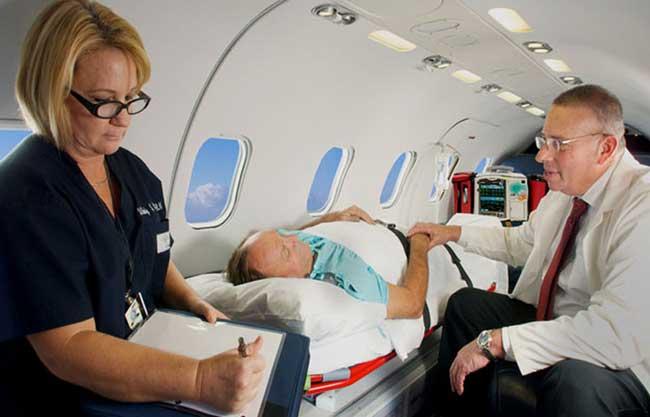 مشکلات پزشکی هنگام پرواز