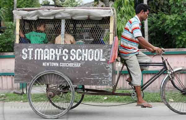 اتوبوس-پدالی-در-هند