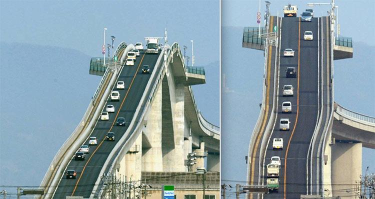 پل عجیب اشیما اوهاشی در ژاپن